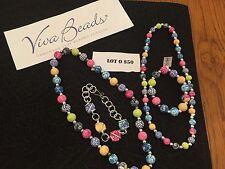 Viva  Jewelry Set  4 Piece SET 2 Necklaces  2 Bracelets FABULOUS Colors L@@K