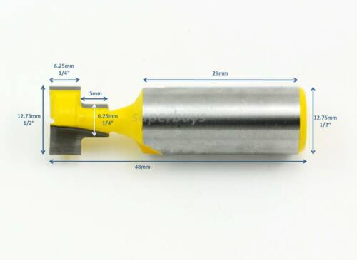 "12.75mm 1//2"" T-Slot Wood Cutter Cut Wood Woodworking Router Bit Milling Keyhole"