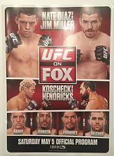 Nate Diaz vs Jim Miller UFC ON FOX Program 5/5/12 Hendricks vs Koscheck