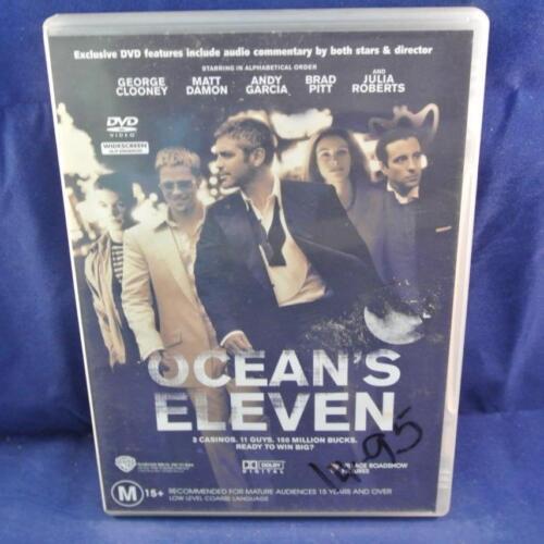 1 of 1 - Ocean's Eleven - DVD Movie - Ex Rental - R4 AUS Free Postage Oz Wide