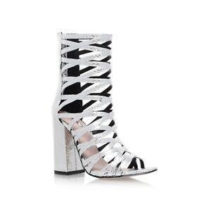 Calf 7 Sale Uk Carvela Boots Eu Down Strappy 40 Silver Closing XvxUPt