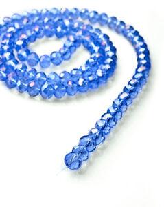 Hot-100pc-Beautiful-4mm-Crystal-Loose-Beads-DIY-Jewelry-Blue