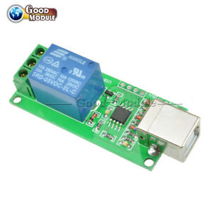 Electronic Components & Supplies Usb Relay 1 Channel Programmable Pc 5v Computer Control For Robotics Smart Home Integrated Circuits