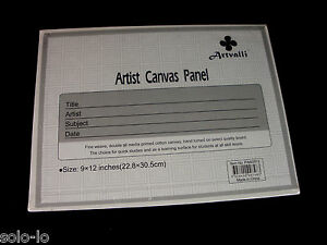 "10 Blank 9""x12"" Artist Canvas Panel Panels Board Art Drawing Wholesale Bulk Lots 9328400007483"