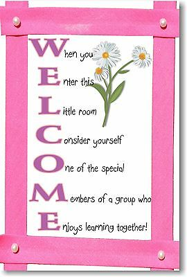 WELCOME 2 - NEW Classroom Motivational Poster