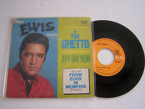 SP-2-TITRES-VINYLE-45-T-ELVIS-PRESLEY-IN-THE-GHETTO-VG-VG-RCA-49-606
