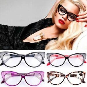 b83a37dde79 Retro Sexy Women Eyeglasses Frame Fashion Cat Eye Clear Lens ladies ...