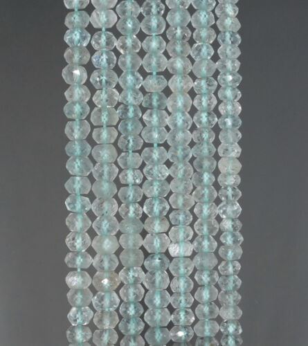 """4X2MM SKY BLUE TOPAZ  GEMSTONE GRADE A FACETED RONDELLE LOOSE BEADS 13/"""""""