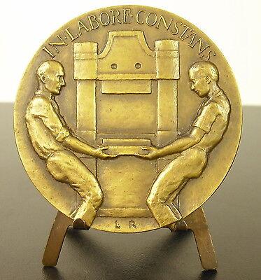 Medaille Entreprises Durrschmidt Lyon In Labore Constant 70mm Ouvriers Medal