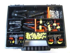 Amp-superseal-connecteur-2-broches-avec-t-distributeur-gummitullen-Box-auto-moto