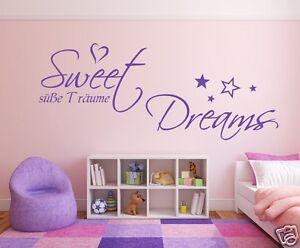 Wandtattoo-Sweet-Dreams-zB-fuers-Schlafzimmer-Kinderzimmer-Wandaufkleber-68055