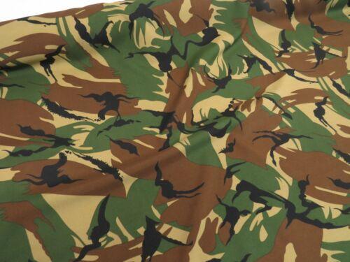 Camouflage polyester vert robe de drap tissu 150 cm large T BI STRETCH