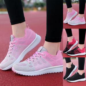 Damen-Sportschuhe-Mesh-Sneaker-Turnschuhe-Laufschuhe-Halbschuhe-Freizeit-Schuhe