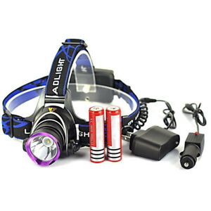 5000LM-LED-Rechargeable-Headlight-Head-Lamp-2Pcs-18650-Charger-US