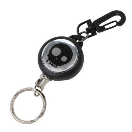 Retractable Office ID Card Badge Reel Holder Carabiner Clip Key shan