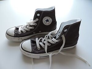 Women-039-s-Grey-Gray-Converse-Chuck-Taylor-High-Tops-Shoes-Size-5