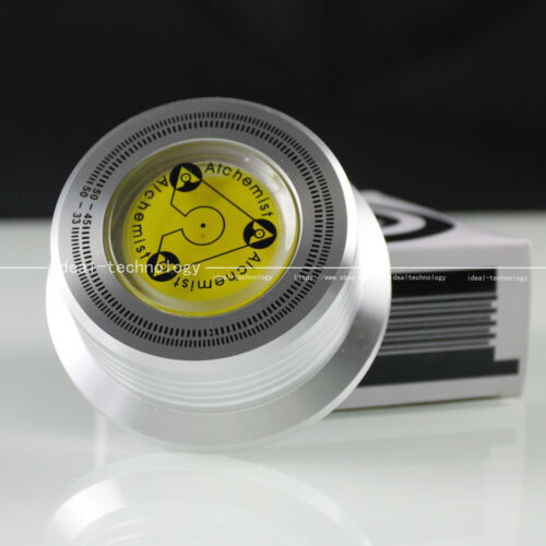 1pc LP Vinyl Record Stabilizer with Spirit level and Speed Test Function