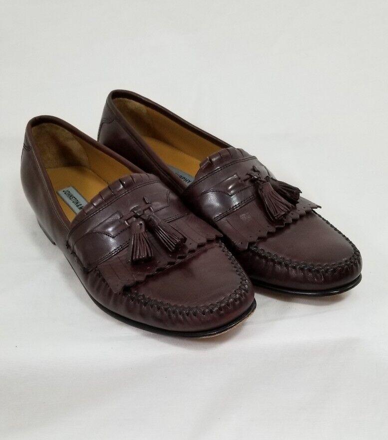 JOHNSON & MURPHY BROWN LEATHER Men's Kiltie Tassel Loafers shoes Size 11 M