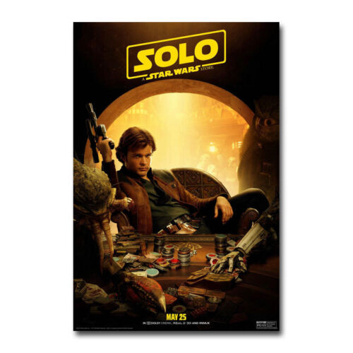 Solo A Star Wars Story Hot Movie Art Canvas Poster Print 8x12 24x36 inch