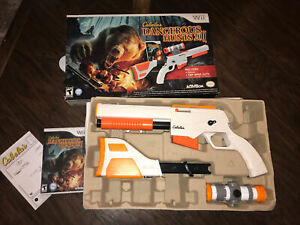 NEW Cabela's Dangerous Hunts 2011 Nintendo Wii Game w/Top Shot Elite Gun SEALED