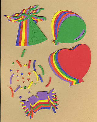 Your choice of colors on Balloons #1 Die Cuts AccuCut