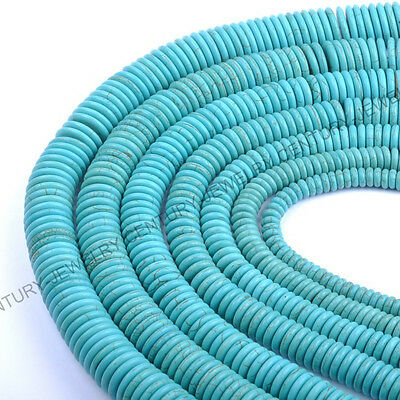 "16"" 8MM 10MM 12MM 14MM 16MM 18MM 20MM Turquoise Gemstone Heishi Spacer Beads"