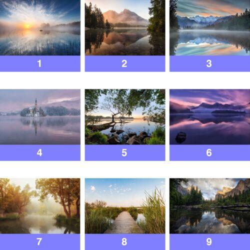 Lake Nature Landscape Lakes Wall Mural Photo Wallpaper LK-WM