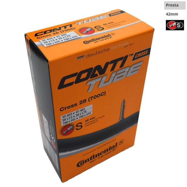Continental Bike Inner Tube Cross 28 700 32 47 Presta 42mm Cycle Valve