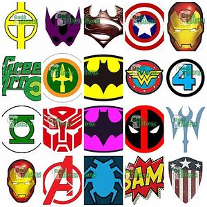 superhero logos set 1 iron on t shirt heat transfer batman