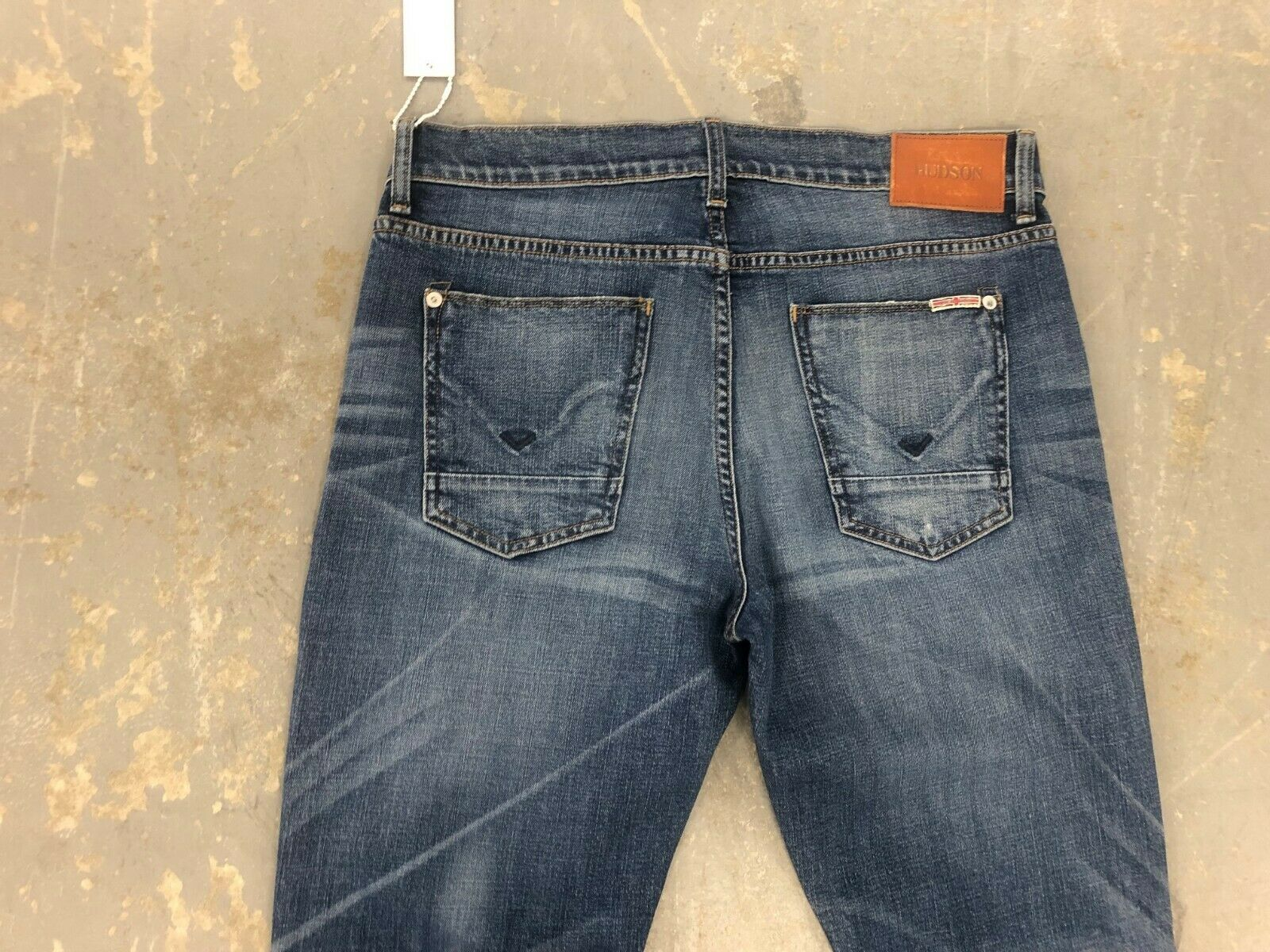 51d34a7c NWT MEN'S BYRON STRAIGHT IN GRAPH blueE STRETCH SIZE 32 HUDSON JEANS ...