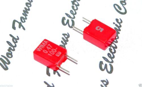 100V 5/% pitch:5mm Capacitor MKS2D034701E00JSSD 0,47µF 10pcs WIMA MKS2 0.47uF