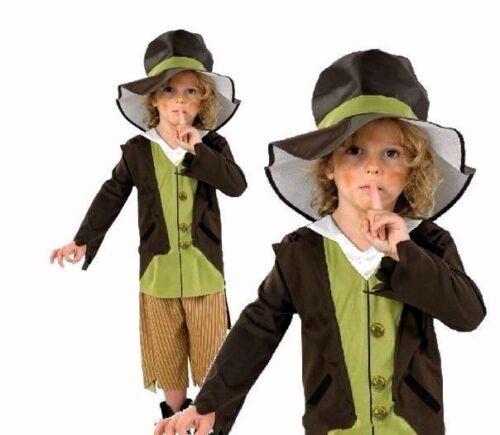 Child VICTORIAN PICKPOCKET Dodger Urchin Fancy Dress Dickens Oliver Twist Boys