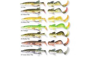 Savage-Gear-3D-Pike-Hybride-leurre-Ready-to-Fish-17-cm-ou-25-cm-soft-lure-amp-Tails