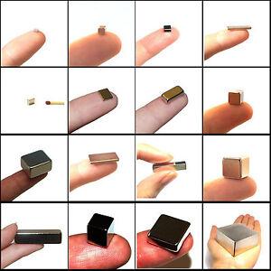 Neodym-Supermagnete-viele-starke-Quader-Wuerfel-Magnete-von-klein-bis-gross-eckig