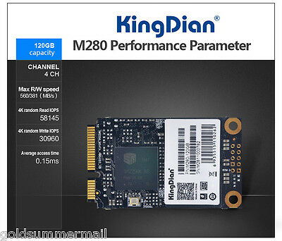 """KingDian M280-120GB High-speed SSD Solid State Drive 2.5"""" MSATA Hard Disk 120GB"""
