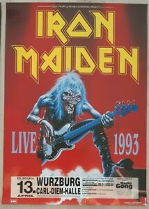 IRON-MAIDEN-A-Real-Live-Tour-1993-Poster-Wurzburg-13-04-1993-Concert