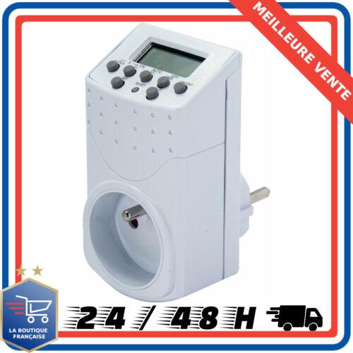 Chacon 54021 Programmateur Digital Blanc Prise Electrique Minuterie Programmable