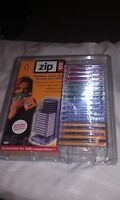 Iomega 16 Multicolored Zip Disks W/mini Tower Zip 100 Formatted Ibm- Compatibles