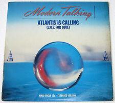 """UK Pressing MODERN TALKING Atlantis Is Calling 12"""" EP Record"""