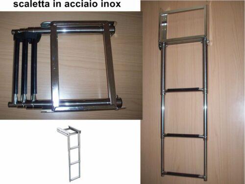 SCALETTA TELESCOPICA A 3 GRADINI  MOD. A SCOMPARSA  870X220nautica