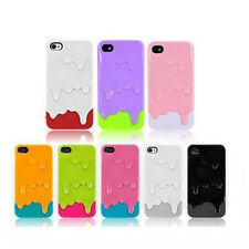 Colorful Cute 3D Melt Ice Cream Skin Hard Back Case Cover For i Phone 4 4G4S New