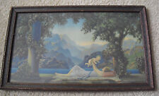 Original 1925 Art Deco Lithograph Print R Atkinson Fox Love's Paradise Framed