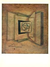 """1967 Vintage PAUL KLEE /""""FIRE AT FULL MOON/"""" FABULOUS COLOR offset Lithograph"""
