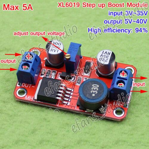 5A DC-DC Step Up Power Module Boost Adjustable Volt Converter 5v 9v 12v 24v 36v