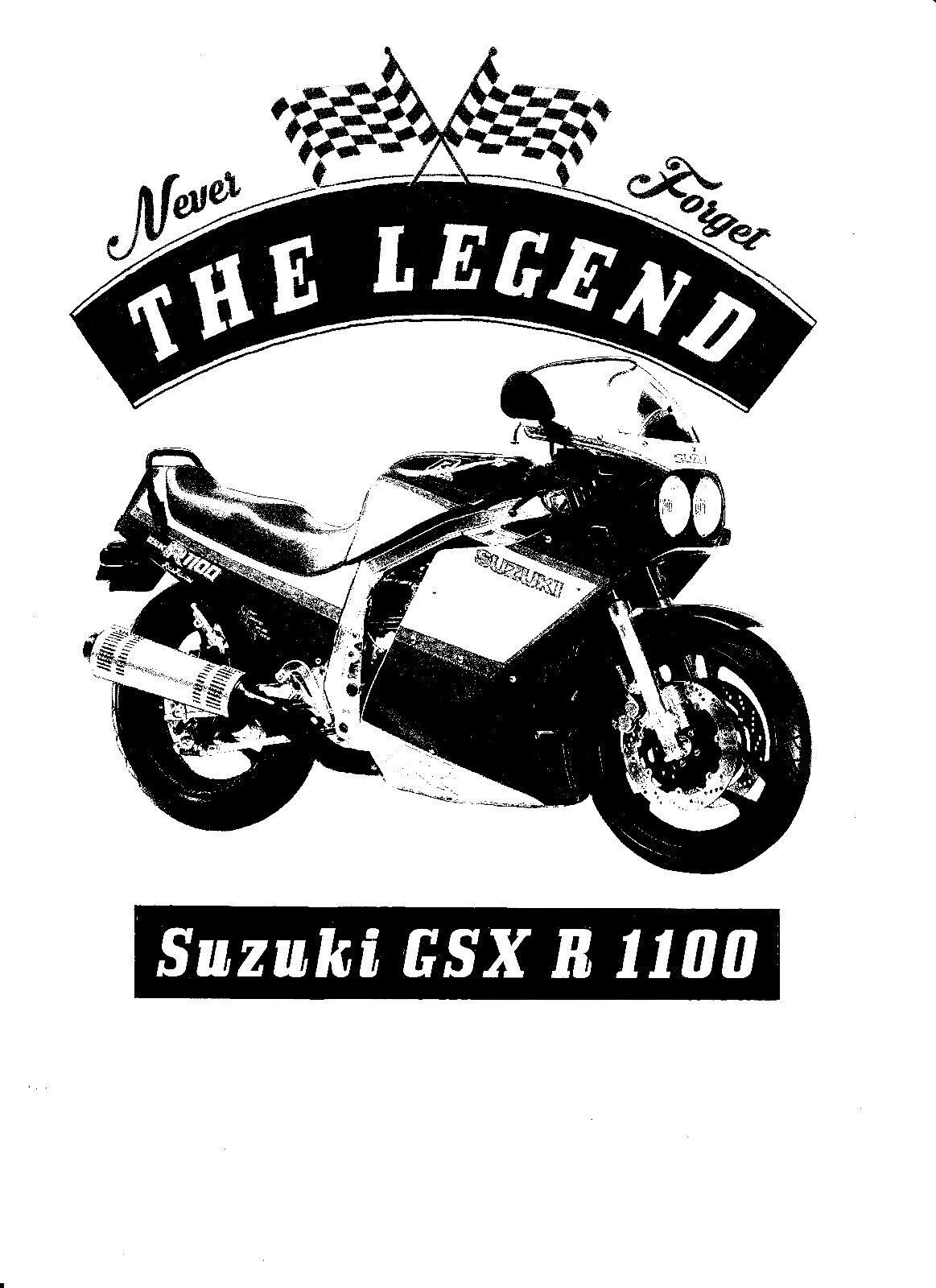 Motorcycle t shirts Suzuki GSX R1100 1986  biker shirts various colours