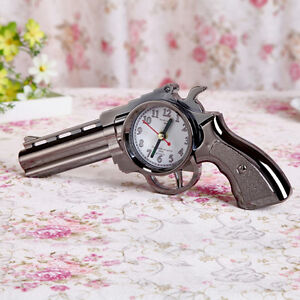 Image Is Loading Cool Pistol Gun Design Alarm Clock Travel Desk
