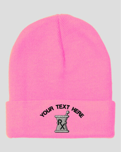 Your Text Here Custom Pestle And Mortar Embroidered Beanie Skully Hat Cap