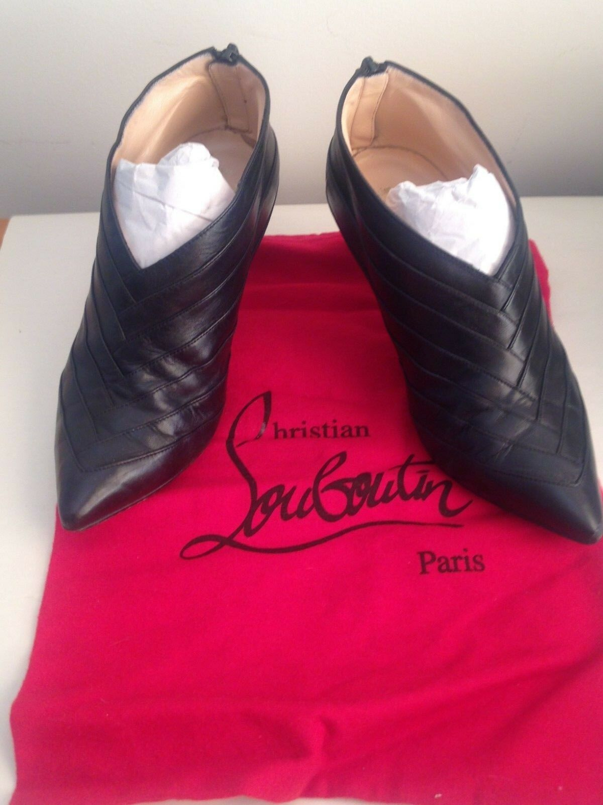 Christian Louboutin Cajole Black Nappa Leather Ankle Boots 3 36