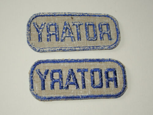 Rare set of 2 Rotary Club Arm Patch Aux Police 1950s NOS New