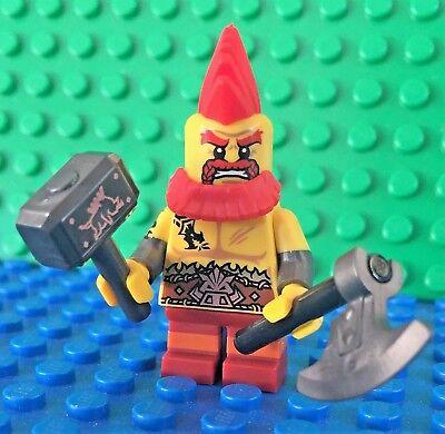 Lego 71018 series 17 BATTLE DWARF War Hammer Axe Minifigures City Town New